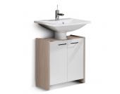 Waschbeckenunterschrank Kayo - Pinie Dekor/Weiß-matt, Fackelmann