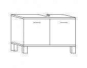 Kesper Prato Waschbeckenunterschrank 2T, Weiß