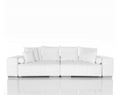 DELIFE Big-Sofa Marbeya Weiss 285x120 cm Wohnlandschaft, Big Sofas