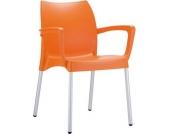 Gartenstuhl, Küchenstuhl, Stapelstuhl DOLCE mit Armlehne, stapelbar, viele Farben wählbar
