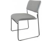 Konferenzstuhl / Besucherstuhl KATJA, stapelbar, gut gepolsterte Sitzfläche
