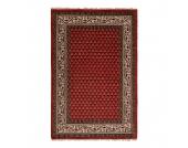 Teppich-Indo Mir Dehli Rot - Reine Wolle - 90 x 160 cm, Parwis