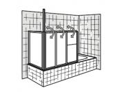 HSK Badewannenaufsatz Prima, 128 cm mit Seitenwand