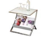 moebel direkt online Beistelltisch _ Couchtisch _ Glastisch _ Tisch mit Ablagefach _ In 2 Farben lieferbar