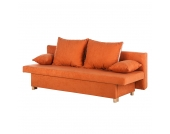 Schlafsofa Homely I - Microfaser - Orange, mooved