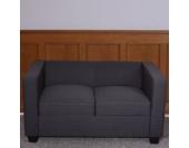 heute-wohnen 2er Sofa Couch Loungesofa Lille Textil 70x75x137 cm
