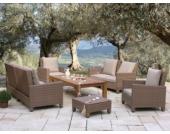 Lounge Set Lanzarote 12 teilig mit Holztisch