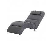 Relaxliege Califfo - Microfaser Grau, roomscape