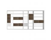 XXL Regalwand Emporior I.A - Ohne Beleuchtung - Weiß / Eiche Sonoma Dekor, loftscape