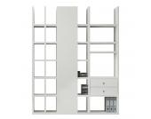 Regalwand Emporior IV - Ohne Beleuchtung - Weiß, loftscape