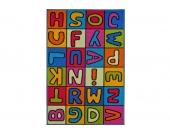 andiamo Kinder-Teppich »Buchstaben«, bunt, 80x120 cm