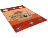 THEKO® Kinder-Teppich »Animals on Tour«, orange, 120x180 cm