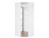 Eckschrank Melva - Polarweiß/Spiegel - BxH: 92,3 x 236 cm, Express Möbel