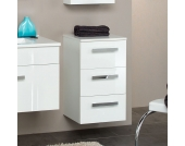 Badezimmer Hängeschrank in Weiß Hochglanz mit Schubladen