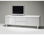TV Lowboard in Hochglanz Weiß Grifflos