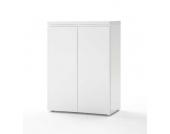 Büroschrank in Hochglanz Weiß 80 cm breit