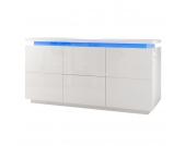 EEK A+, Sideboard Emblaze II (inkl. Beleuchtung) - Hochglanz Weiß, loftscape