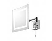 EEK A++, Kosmetikspiegel Torino Square - 1-flammig, Illumina