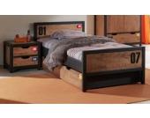 Vipack Set Alex best. aus Nachtkonsole, Einzelbett 90x200 und Bettschublade Kiefer gebürstet