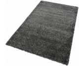 Merinos Hochflor-Teppich »INDRE«, schwarz, 120x170 cm