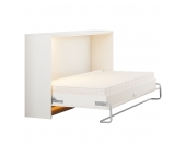 Schrankbett Godia - 90 x 200cm - Ohne Matratze - Weiß, Modoform