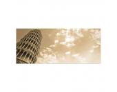Leinwanddruck Der Schiefe Turm von Pisa - 50 x 120 cm, Wandbilder XXL