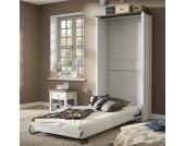 Schrankbett in Weiß 90x200