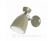 Wandlampe Retro mit Schalter, grün