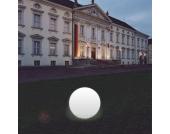 Kugelleuchte Snowball weiß mit Alu-Fuß 40 cm