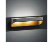 Moderne LED-Wandleuchte Onno 30 cm schwarz gold