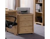 Bürocontainer aus Kiefer Massivholz mit Rollen