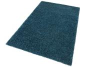 my home Hochflor-Teppich »Finn«, blau, 160x230 cm