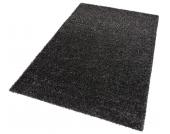 my home Hochflor-Teppich »Finn«, schwarz, 280x390 cm