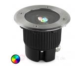 Runde LED Bodeneinbauleuchte GEA mit Farbwechsel