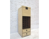 China hohe schlanke Kommode Barschrank Anrichte Pinie in two tone opti