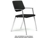 Konferenzstuhl / Stuhl / Beistellstuhl GIROFLEX 656-6004 3D-Gewirk / Flora AL schwarz