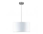 EEK A++, Pendelleuchte Loft - 1-flammig - Textil - Stahl/Mattnickel - Weiß, Honsel