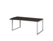 Höhenverstellbarer Schreibtisch in Braun Silber 180 cm breit