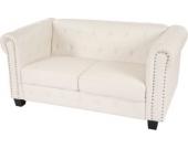 heute-wohnen Luxus 2er Sofa Loungesofa Couch Chesterfield Kunstleder