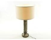 Tischleuchte Tischlampe in Braun/Gold mit hellem Lampenschirm Modern 8