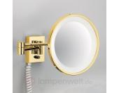 Goldener Wandkosmetikspiegel POINT, beleuchtet
