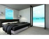 Ocean Mono Wasserbett, 200 x 200 cm, weiß, F3