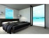 Ocean Duo Wasserbett, 200 x 200 cm, schwarz, F6