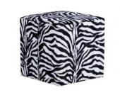 IOVIVO Polsterhocker Zebra quadratisch