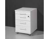 Bürocontainer in Weiß mit Utensilienfach