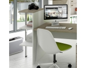 Büroregal mit extra Stützbein für den Schreibtisch