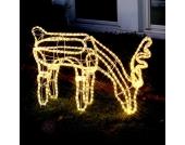 Grasendes LED-Rentier Meja 50cm x 90cm