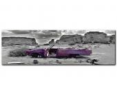 XXL-Wandbild, Premium Picture, »Wrecked Cadillac«, Größe 52 x 150 cm