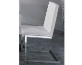 Freischwinger-Stuhl mit Kunstleder-Bezug (4er Set)