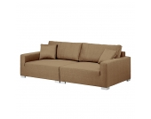Bigsofa Forio - Webstoff - Gold / Braun, roomscape